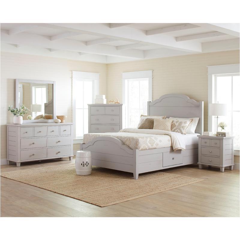 1773-91 Jofran Furniture Chesapeake - Dove Grey Bedroom Queen Bed