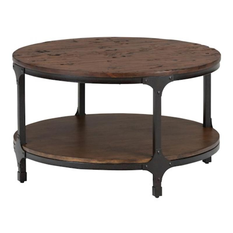 785 2 Jofran Furniture 785 Series 32 Inch Round Cocktail Table With Shelf