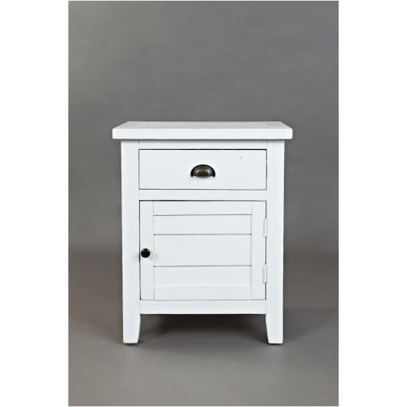 1744 20 Jofran Furniture Artisans Craft   Weathered White Accent Accent  Table