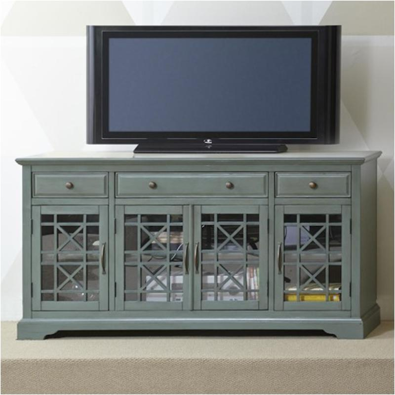 475 60 Jofran Furniture Craftsman   Antique Jade 60 Inch Media Unit