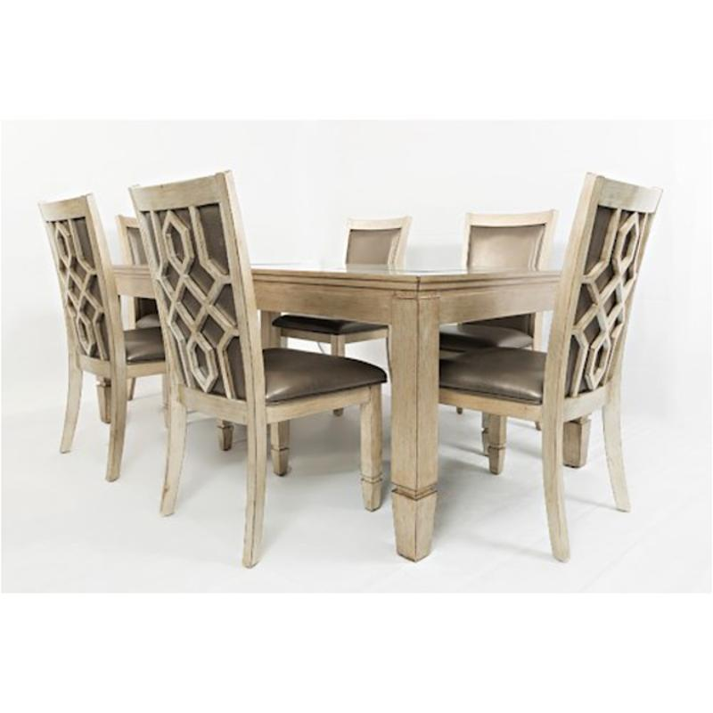 1650 78 Jofran Furniture Casa Bella   Silver Dining Room Dining Table