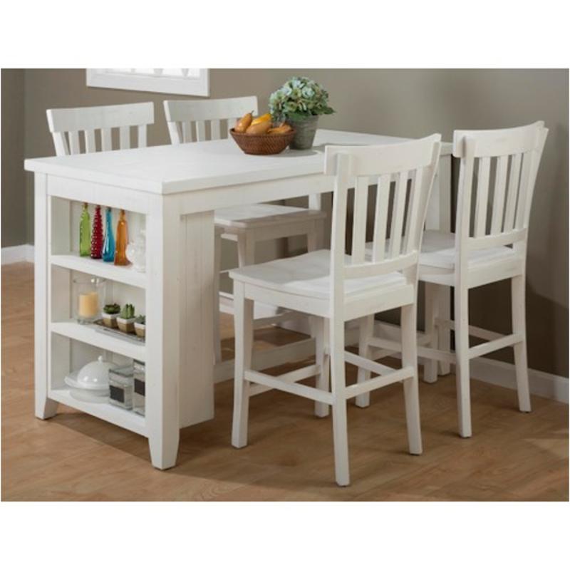 647-60 Jofran Furniture Madaket Counter Height Dining Table With 3 Shelf  Storage