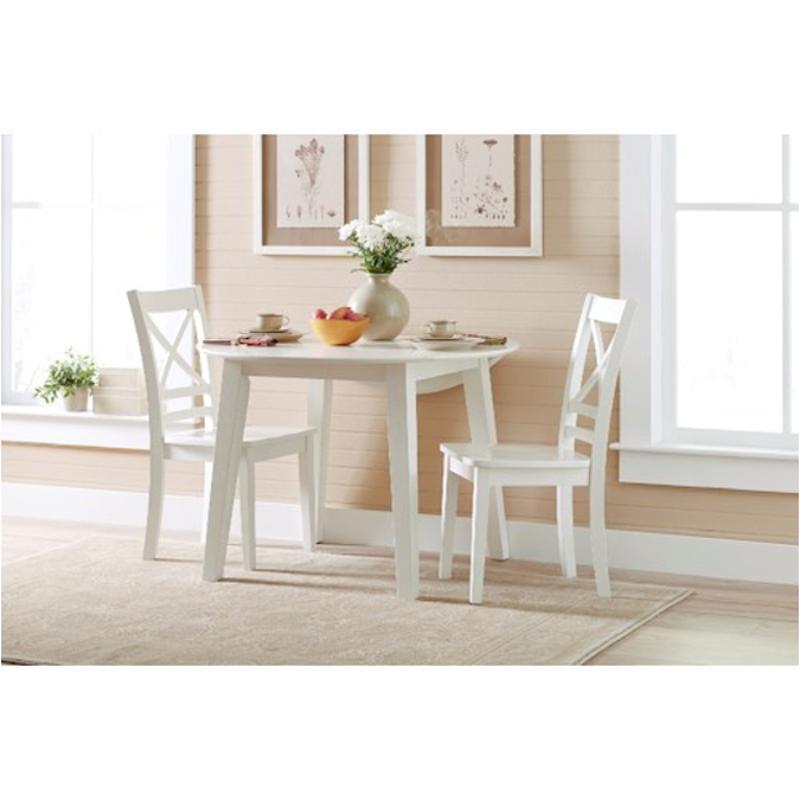 652-28 Jofran Furniture 652 -series Paperwhite Finish Round Drop Leaf Table