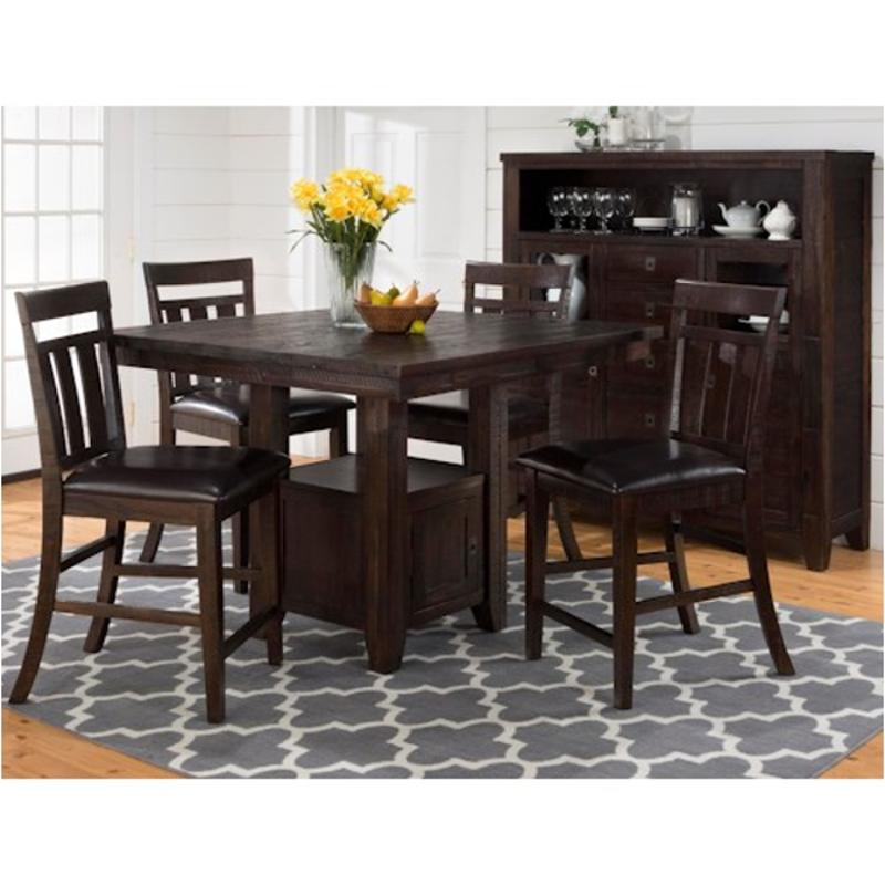 705 48 Jofran Furniture Kona Grove Counter Height Fixed Dining Table With  Double   Header Storage