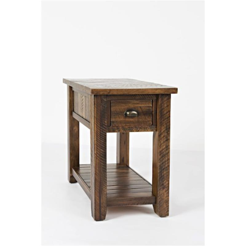 1742 7 Jofran Furniture Artisans Craft Dakota Oak Chairside Table With Drawers Shelves
