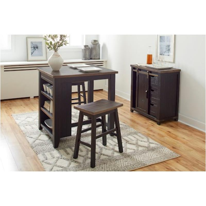 1702 36 Jofran Furniture Counter Height Dining Table With Shelves