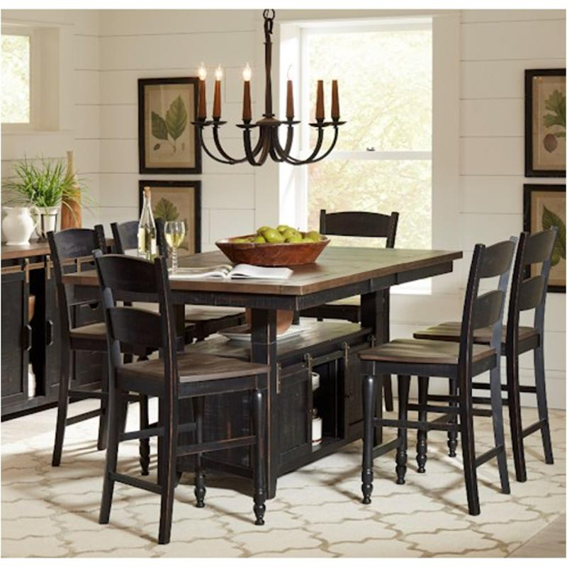 1702 72t Jofran Furniture Madison County Vintage Black High Low Dining Table