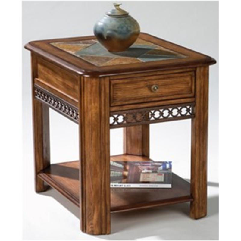 T1125-03 Magnussen Home Furniture Rectangular Drawer End Table