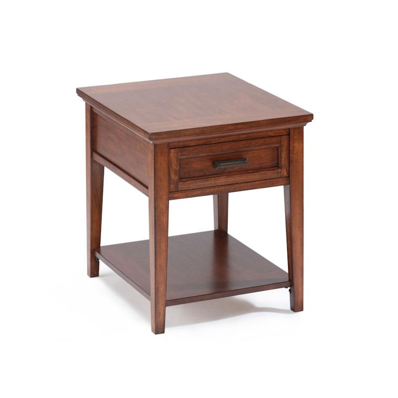 T1392-03 Magnussen Home Furniture Rectangular End Table