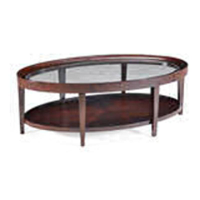 T1632-47 Magnussen Home Furniture Carson Oval Cocktail Table