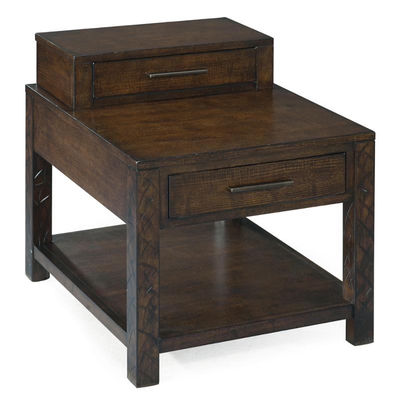T2357-03 Magnussen Home Furniture Cavelle Rectangle End Table