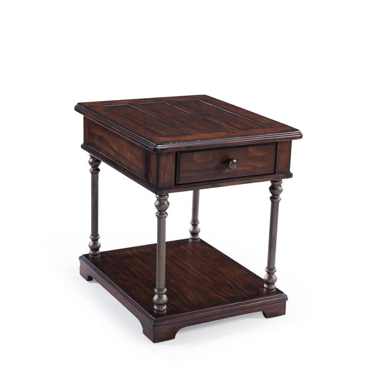 T3492-03 Magnussen Home Furniture Butler Rectangular End Table