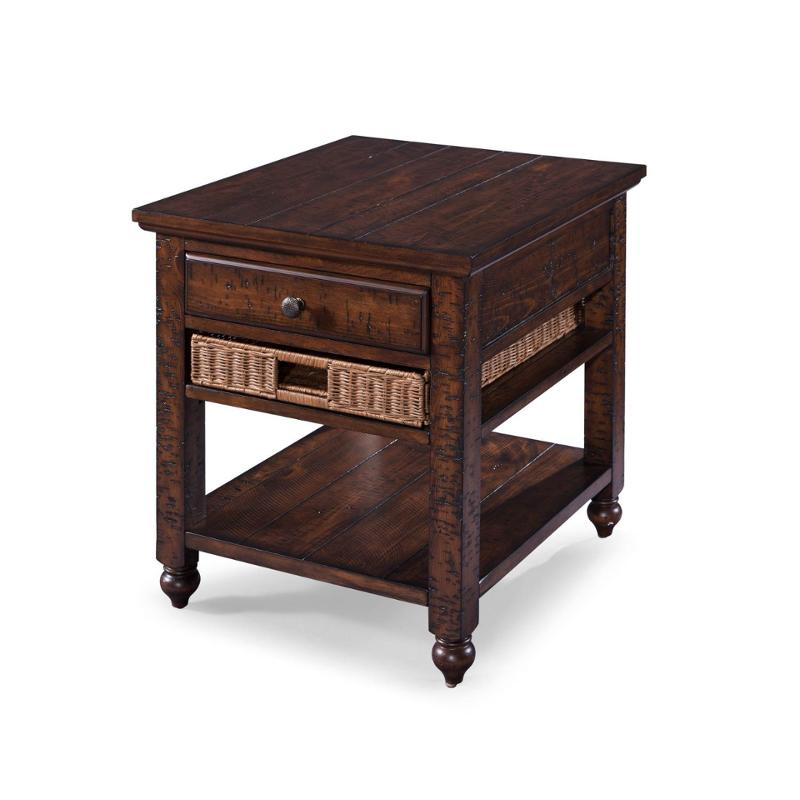 T3521-03 Magnussen Home Furniture Wood Rectangular End Table