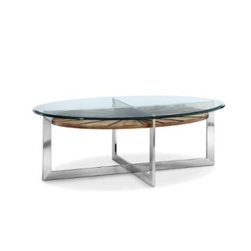 T3805 47 magnussen home furniture rialto oval cocktail table for Cocktail table 47
