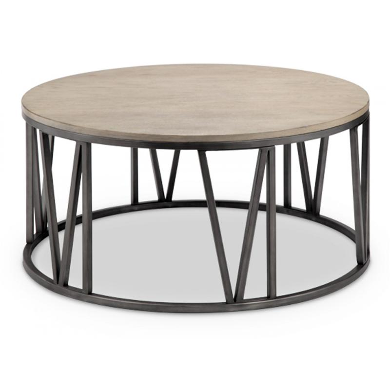 Magnussen Home Cranfill Round Cocktail Table: T4343-45 Magnussen Home Furniture Avalon Round Cocktail Table