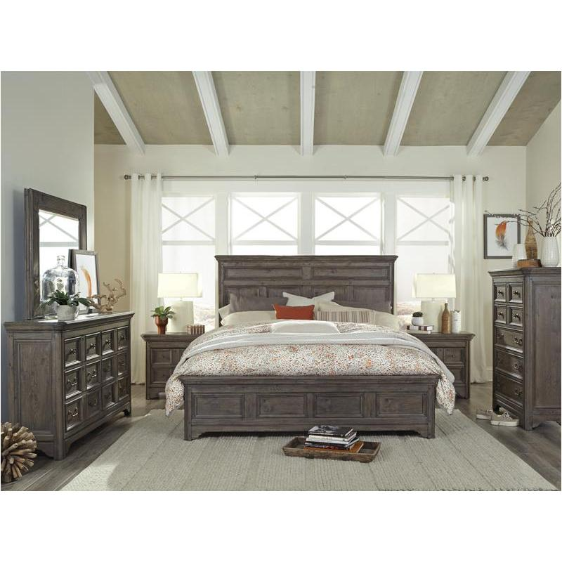 B4284 54h Magnussen Home Furniture Shelter Cove Queen Panel Bed