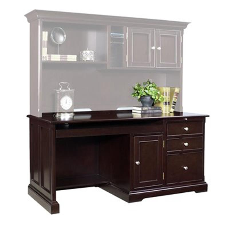 2316 911 Samuel Lawrence Furniture Computer Desk Merlot