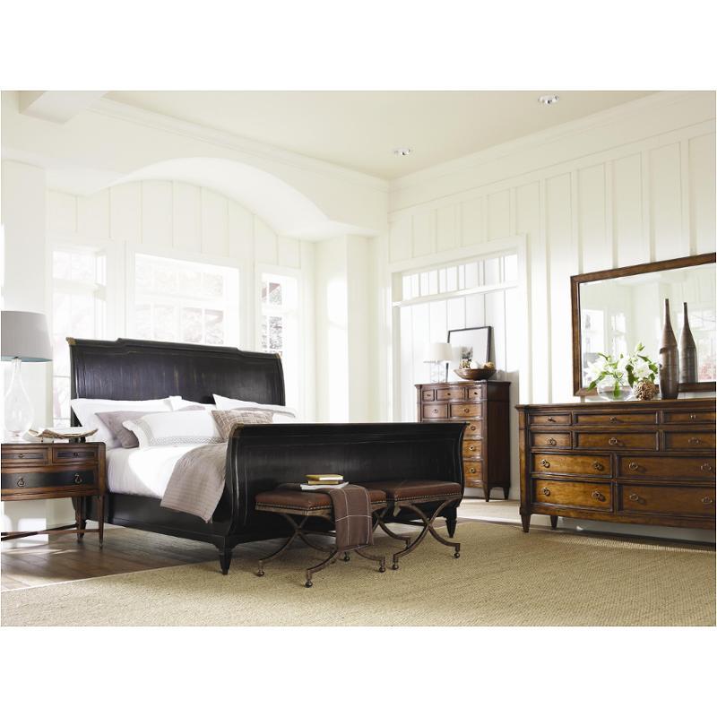 8503-361 Schnadig Furniture American Kaleidoscope Eastern King Sleigh  Bed-black