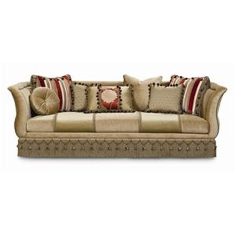 A760 082 A Schnadig Furniture Dahlia Living Room Fringed Sofa