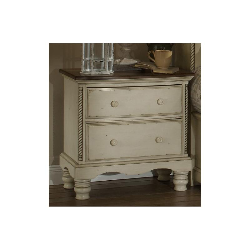 1172-771 Hillsdale Furniture Wilshire - Antique White Night Stand - Antique  White