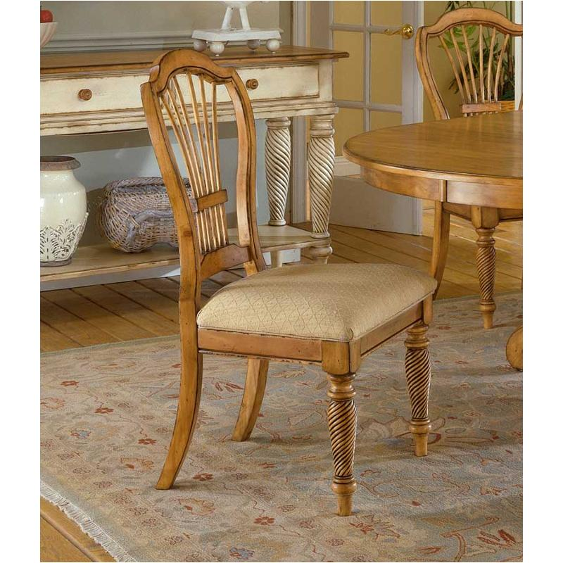 4507 802 Hillsdale Furniture Wilshire   Antique Pine Dining Chairs    Antique Pine