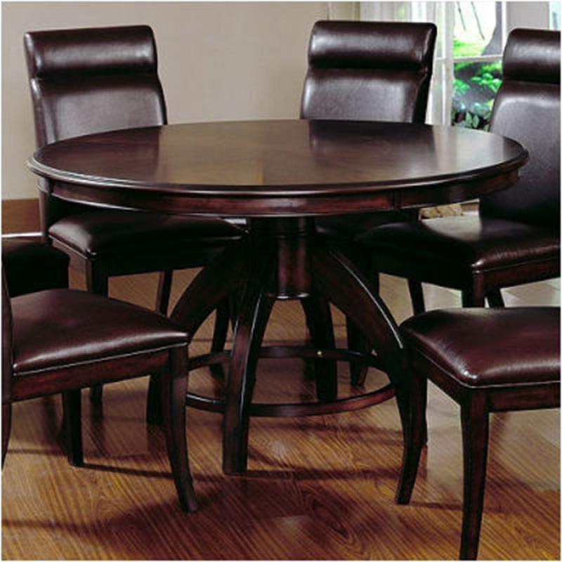 4077 813 Hillsdale Furniture Nottingham Curved Round Pedestal Dining Table