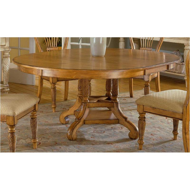 4507-816 Hillsdale Furniture Wilshire - Antique Pine Dining Room Dining  Table - 4507-816 Hillsdale Furniture Round Dining Table - Antique Pine
