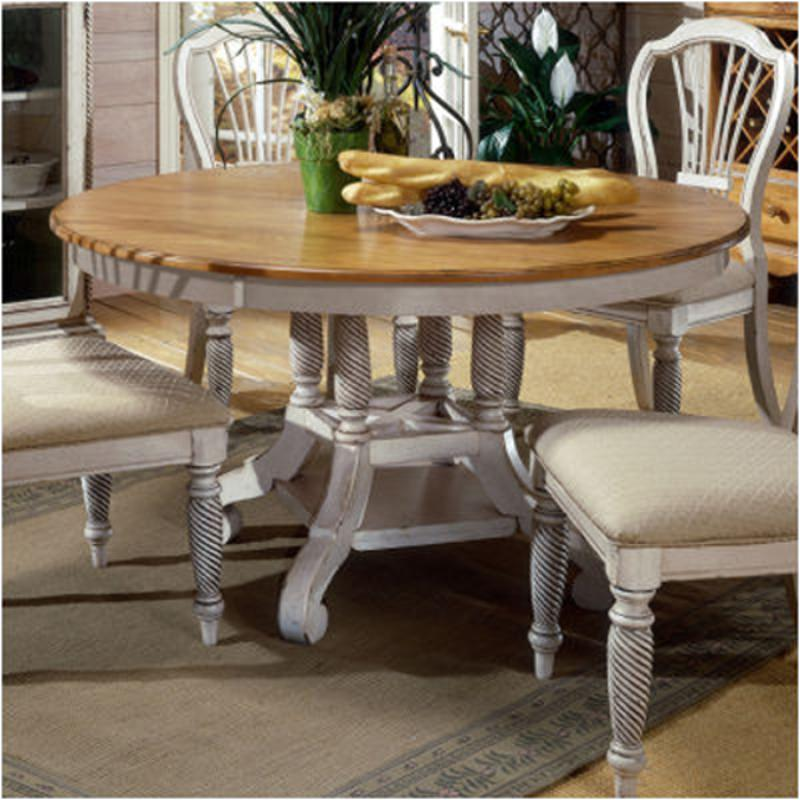 4508-816 Hillsdale Furniture Round Dining Table - Antique White