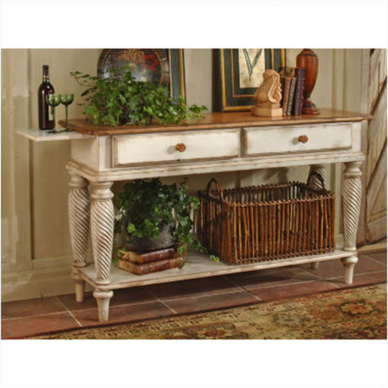 4508 856 Hillsdale Furniture Wilshire   Antique White Dining Room Sideboard