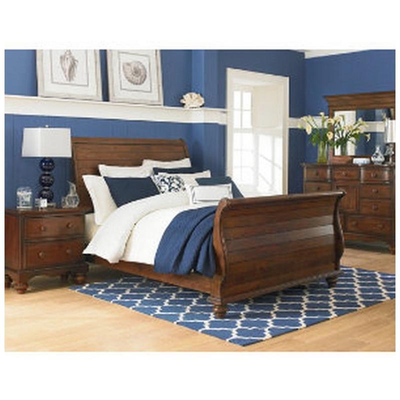 1215-572n Hillsdale Furniture Pine Island - Dark Pine Queen Sleigh Bed -  Dark Pine