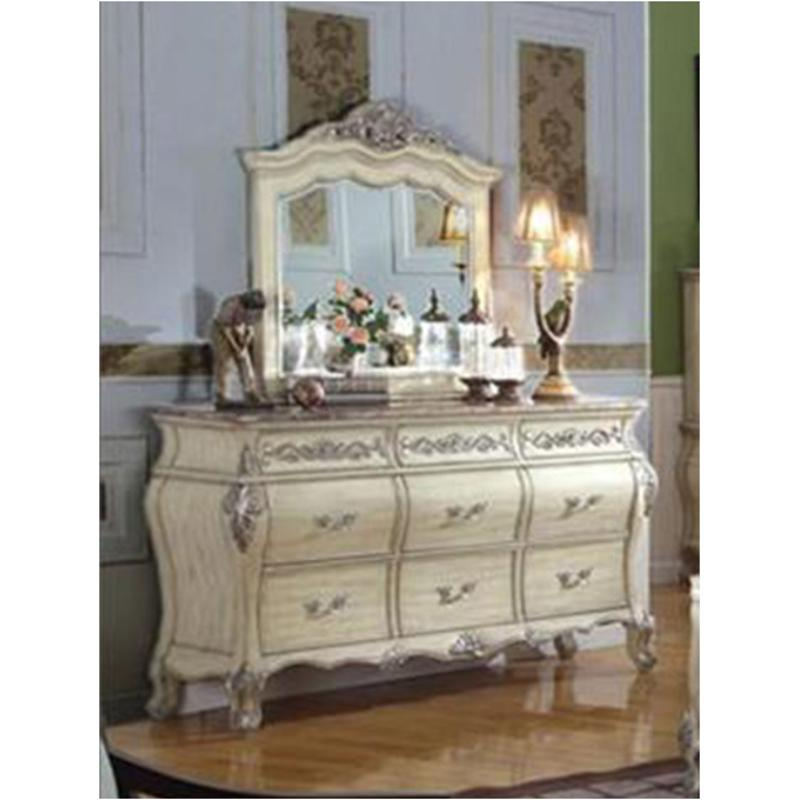 B8301-d Mc Ferran Home Furnishings Bordeaux - Antique White Dresser -  Antique Whtie