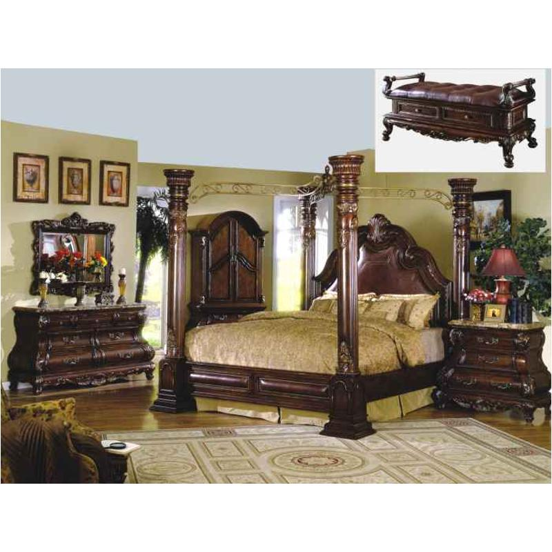 B9088 Q Mc Ferran Home Furnishings Queen Bed Dark Brown