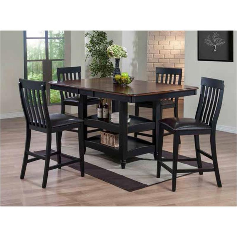 Cou 4266 T Mc Ferran Home Furnishings Black And Cherry Solid Erfly Leaf Table