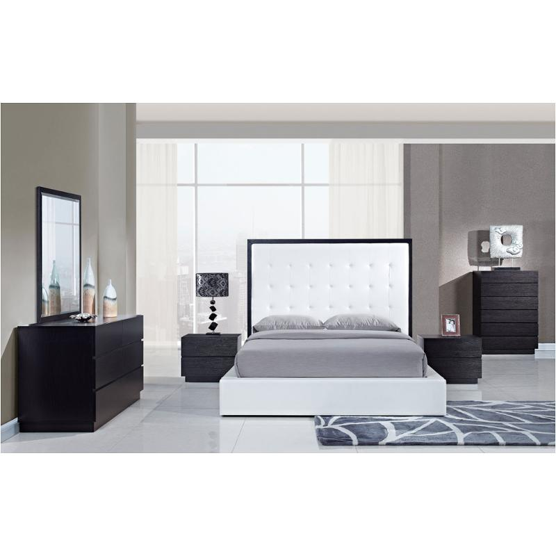 Metro-ww-kb Global Furniture King Bed - White/wenge