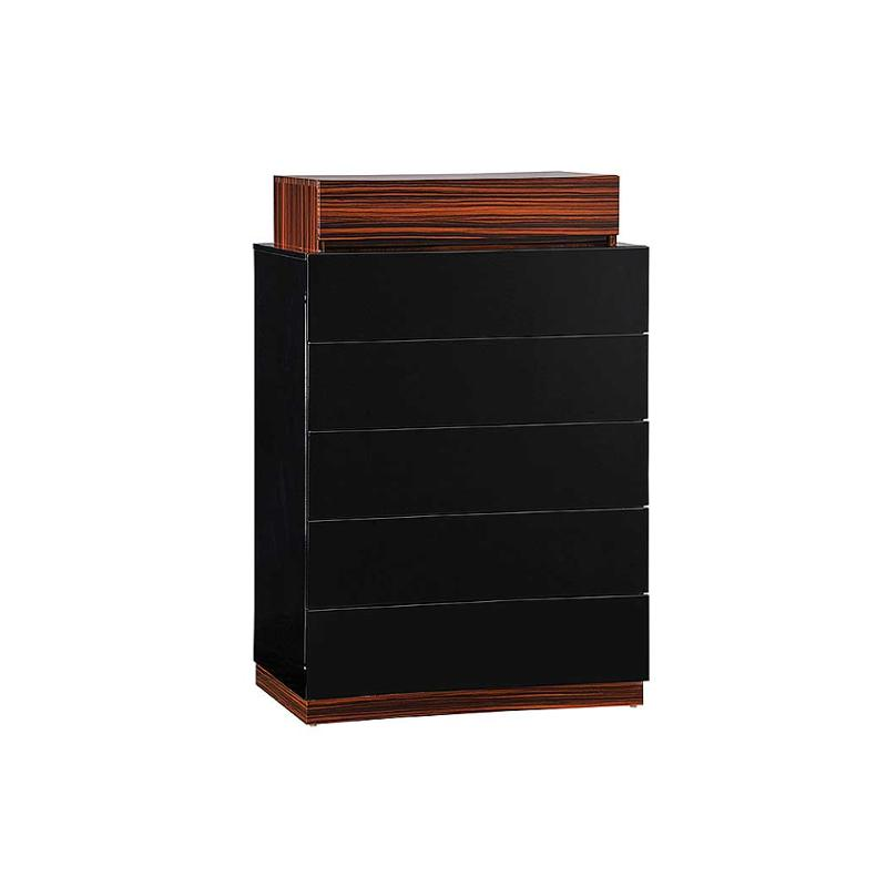 Lexi Bw Ch Global Furniture Lexi   Black And Wenge Bedroom Chest