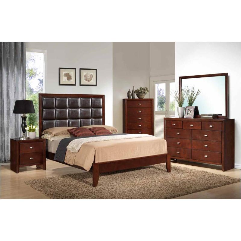 Carolina M Kb Global Furniture Carolina Merlot King Bed Merlot