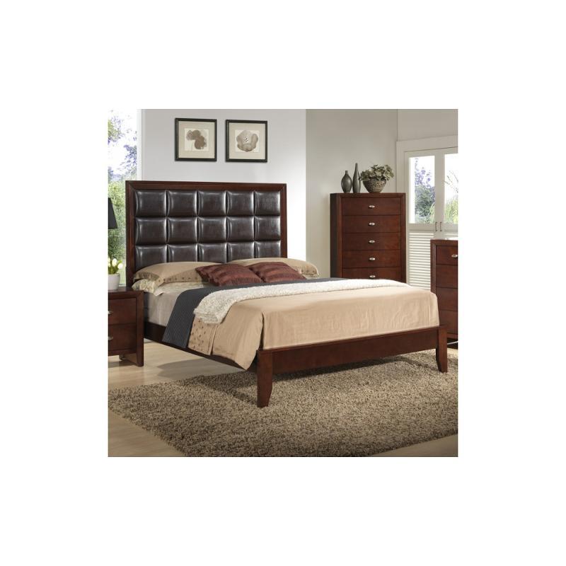 Carolina M Qb Global Furniture Carolina Merlot Queen Bed Merlot