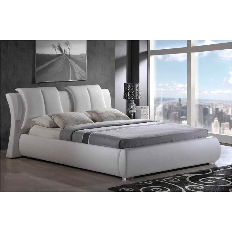8269 Wh Qb Global Furniture 8269 White Queen Bed White
