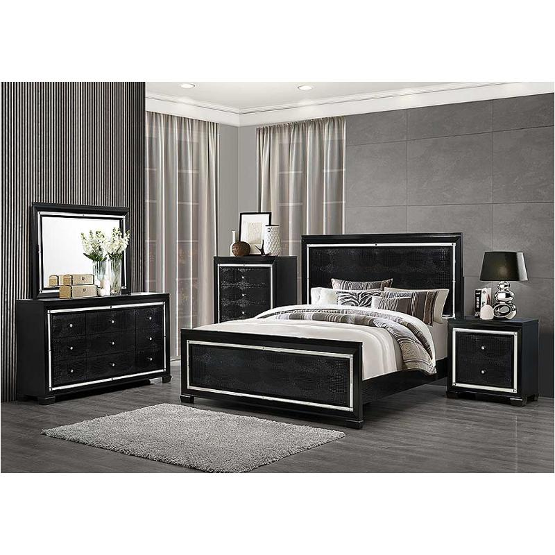 Galaxy-mb-kb Global Furniture Galaxy - Metallic Black King Bed - Metallic  Black