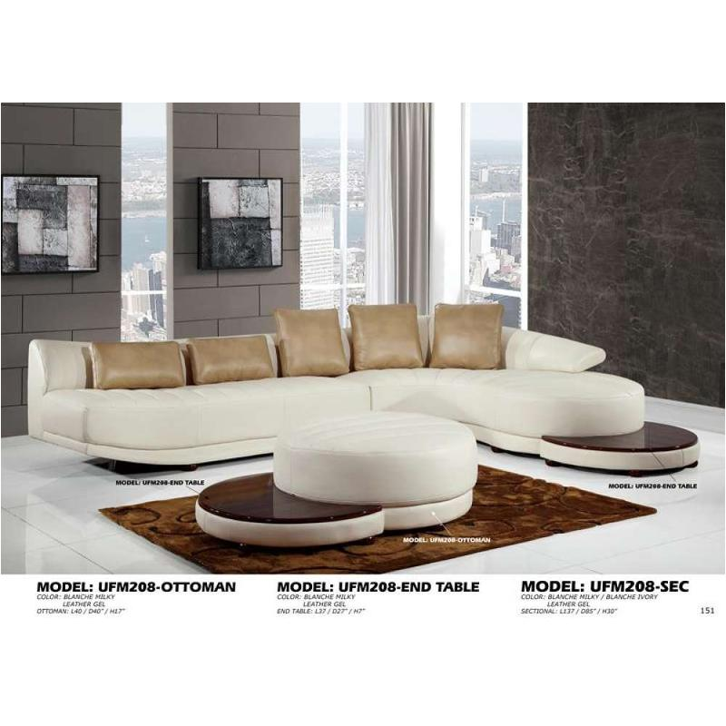 Ufm208 Sec O   Leather Gel   Blanche Milky/ivory Global Furniture Ufm208