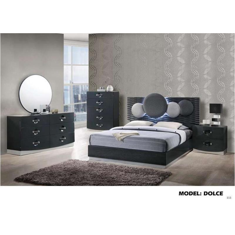 Dolce-gr-qb Global Furniture Queen Bed - Dark Grey Hg
