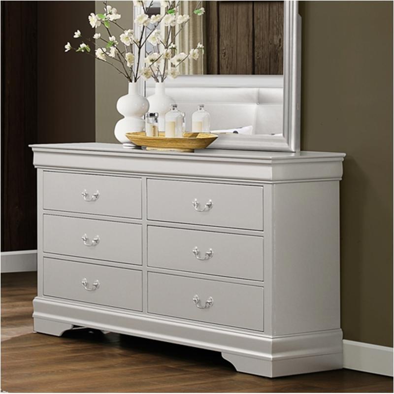 Silver Dresser: Marley-slr-d Global Furniture Marley