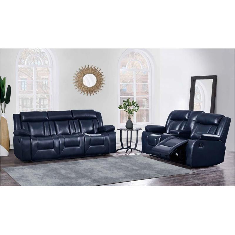U8036-bl-s Global Furniture U8036-blue Reclining Sofa