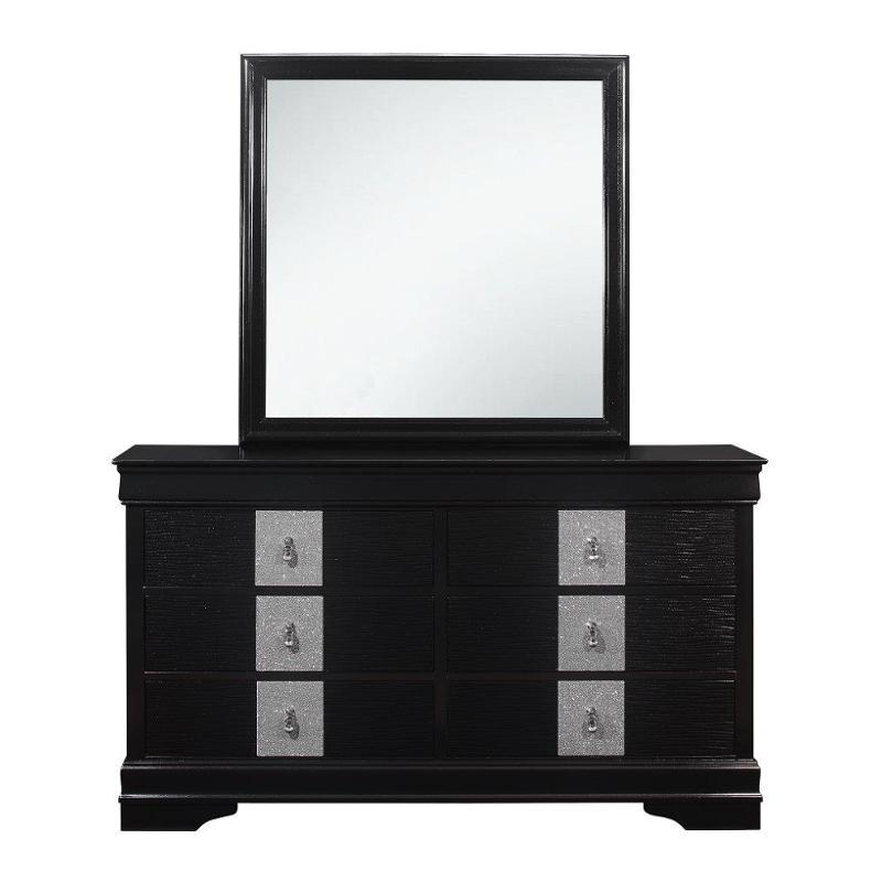 Mia-bl-d Global Furniture Mia - Black Dresser