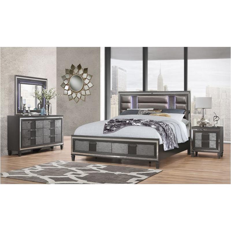 Pisa M Global Furniture Pisa Metallic Grey Mirror