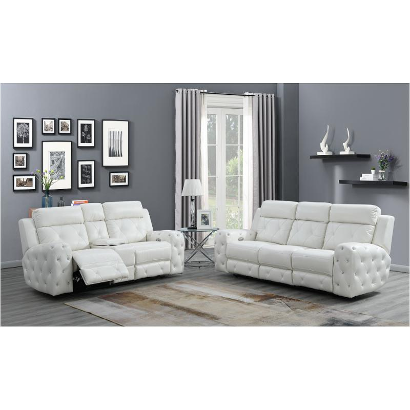 Marvelous U8311 Wh Rs Global Furniture U8311 Blanche White Power Reclining Sofa Gmtry Best Dining Table And Chair Ideas Images Gmtryco