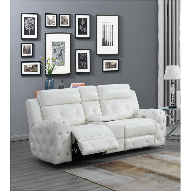 Fantastic U8311 Wh Ls Global Furniture U8311 Blanche White Power Console Reclining Ls Frankydiablos Diy Chair Ideas Frankydiabloscom