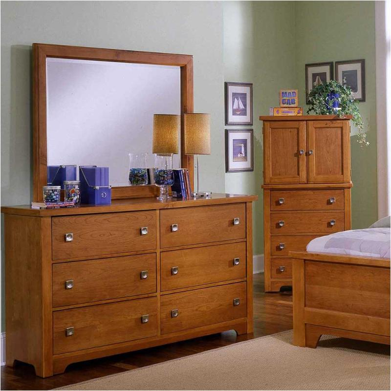cherry bedroom furniture. Bb35-002 Vaughan Bassett Furniture Lifestyle - Light Cherry Bedroom Dresser