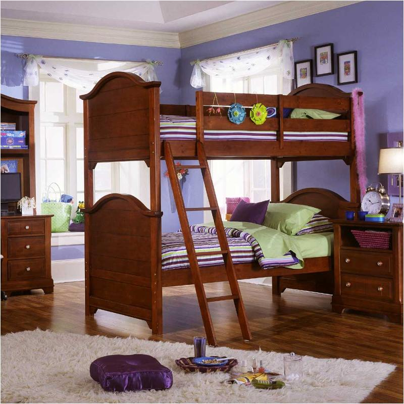 Cherry bunk beds legacy classic 4 pc ridge full open loft bedroom set heirloom cherry modern - Captivating furniture for bedroom design and decoration with various wooden bunk bed frames ...