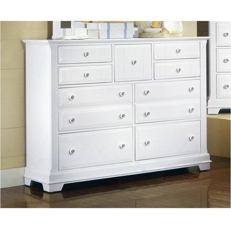 Bb24-002 Vaughan Bassett Furniture Cottage - Snow White Triple Dresser -  Snow White